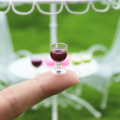 Mini Wine Glass Miniature Food Dollhouse 1:6 1:12 House-Model Decor Supplies-New