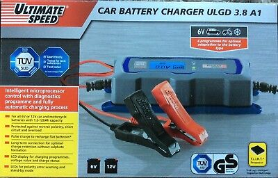 Car Battery Charger ULGD 3.8 for 6V and 12V Batteries