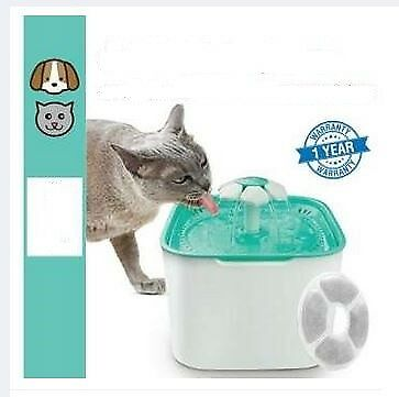 Automatic Pet Water Flower Fountain Dog Cat Drinking Bowl Waterfall Drink Well