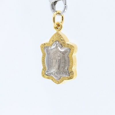 Thai Amulet pendant Magic Turtle LP Liw Buddha pendant Good Luck Safe Charm.No.1