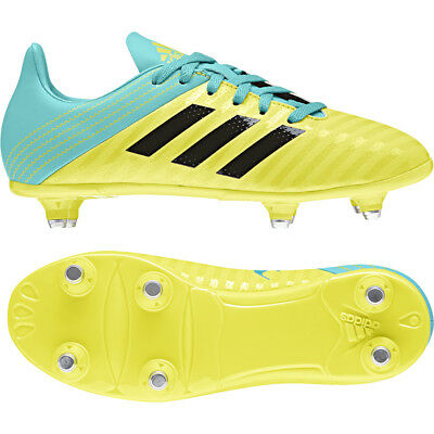 adidas Malice SG Shock Yellow AC7740 Junior Rugby Boots Size UK 1 - 5.5