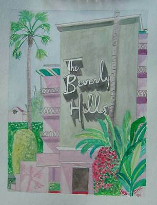 THE BEVERLY HILLS HOTEL Art Print Los Angeles California Architecture Hollywood