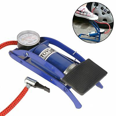 New FOOT PUMP Single Barrel Cylinder Air Inflator Bicycle Bike Car Van Tyre Ball