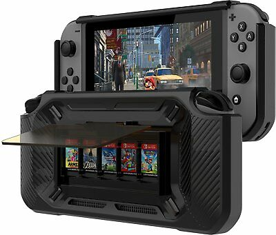 Nintendo Switch Grip Case Play Stand 5 Games Protective Bumper Slim Shell Cover