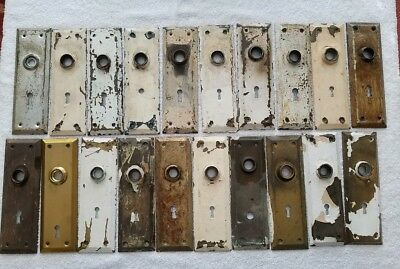 20 Brass Antique Vintage Door Knobs Backplates Hardware Salvage  Many Available!