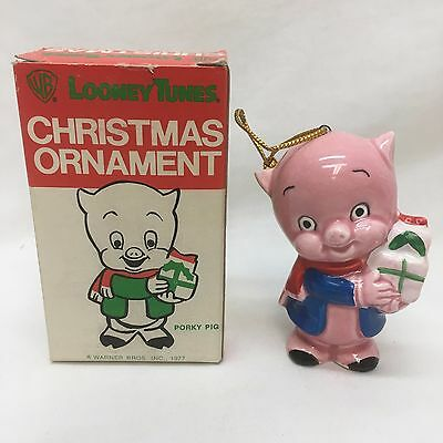 Vintage Looney Tunes Christmas Ornament 1977 Porky Pig Mint In The Box - VINTAGE LOONEY TUNES Christmas Ornament 1977 Porky Pig Mint In The