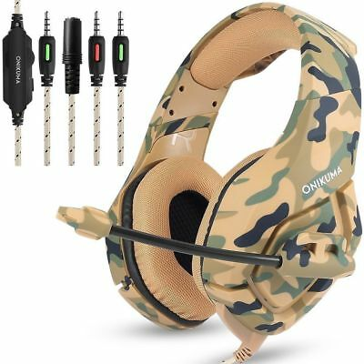 ONIKUMA K1 Mic Gaming Stereo Bass Headset Surround For PS4 Laptop Xbox One 360S