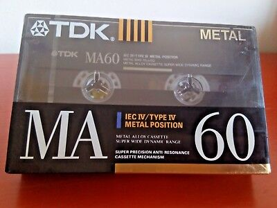 CASSETTE TAPE BLANK SEALED - 1x (one) TDK MA 60 [1990-92] METAL made in Germany