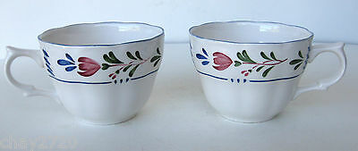 Vtg. Pair Of French Country Cups Provincial Pattern Avondale, By Nikko, Japan