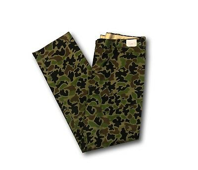 Men's Vintage EDDIE BAUER Green Camo Print Military Style Jungle Trousers Pants