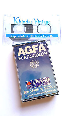 CASSETTE TAPE BLANK SEALED 1x (one) AGFA ferrocolor 90+6 [1979]  made in Germany