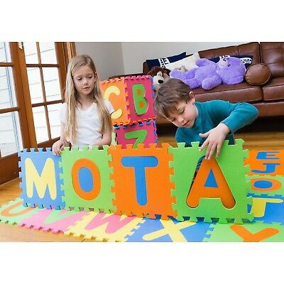 🧸New Puzzle Mat 36 blocks Learn ABC Alphabet Learn Kids Letters Floor Play Toy