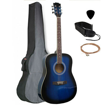"41"" Full Size Dreadnought Acoustic Guitar - Blueburst with Nylon Gig Bag"