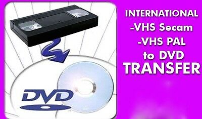 Video Tape Transfers To Dvd : Pal Secam * European African Middle East. Systems