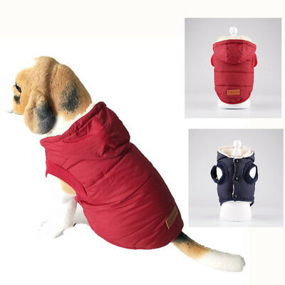 HOT Puppy Pet Dog Cat Clothes Hoodie Winter Warm Sweater Coat Costume Apparel JE