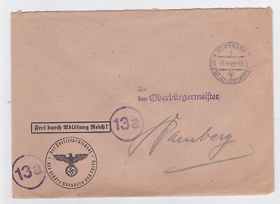 Germany Third Reich Nuremberg Police Chief Official Cover Ww Ii