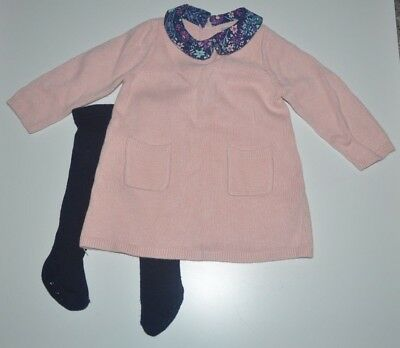 be3bcfb15 GAP BABY GIRLS Size 6-12 Months Pink   White Reindeer Christmas ...