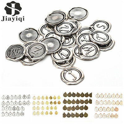 26 Alphabet Letters A-Z DIY Crafts Jewelry Making Charms Pendents Findings Lot