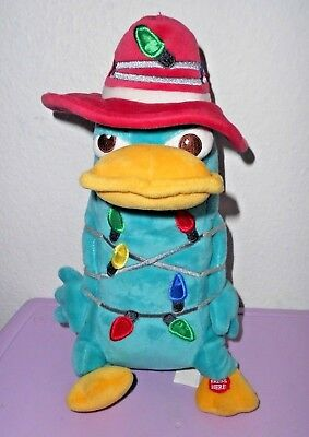 Disney Parks Phineas Ferb Agent P Christmas Lights Plush Stuffed Animal Perry