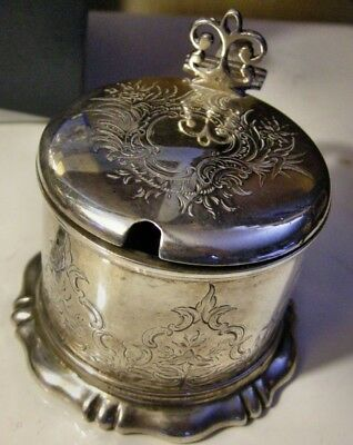 Important Sterling Silver Mustard Pot by Charles Fox 1844