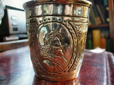 Fab German States Silver Beaker with Busts, 17th Century, likely Augsburg