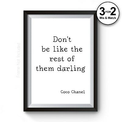 Inspirational Quote Fashion Typography Decor gift Coco Chanel Giclee Art Print