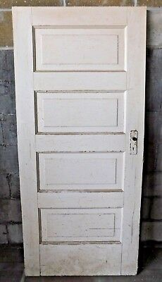 Antique Victorian Interior Four Panel Door - C. 1905 Fir Architectural Salvage
