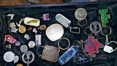 vintage junk drawer  Pin Key Chain Lot