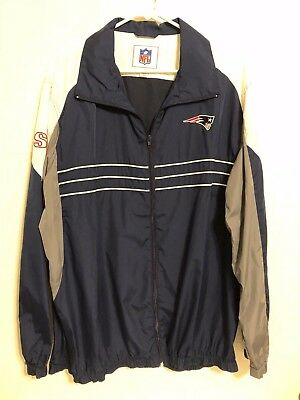 Sports Illustrated New England Patriots NFL Size XL Windbreaker Jacket