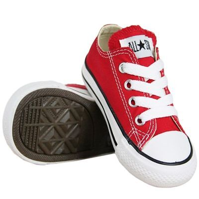 Converse Chuck Taylor All Star Ox Red White Infant Toddler Girl Shoes Size 2-10