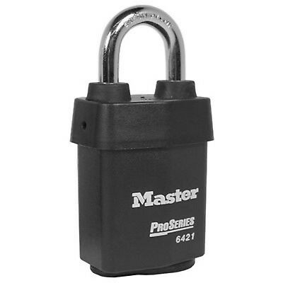 "Master Lock 6421WO  2-1/8"". Pro-IC Core Padlock Body Less Core Black 07164904240"