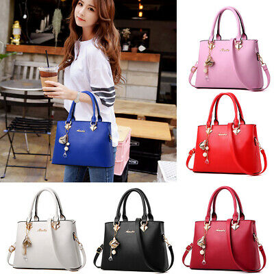 Women Leather Handbag Shoulder Messenger Satchel Crossbody Ladies Tote Bag Purse