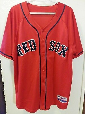 best sneakers b9dc9 8c56a BOSTON RED SOX Authentic Majestic Alternate Red Jersey Men Size 54 Number  13 New
