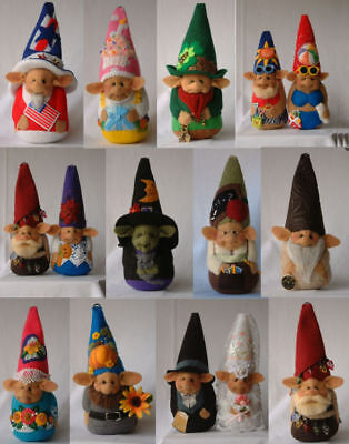 """*new* Cloth Doll (Paper) Pattern """"a Gnome For All Seasons"""" By Shelley Hawkey"""