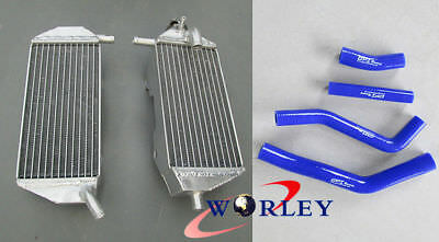 Aluminum radiator & hose for YAMAHA YZF450 YZ450F 2010 2011 2012 2013 10 12 BLUE
