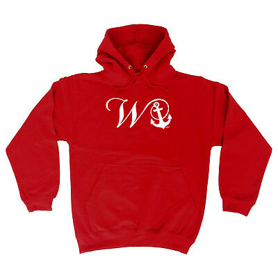 W Rude Anchor Humour Funny Hipster Family Hoodie Offensive Gift Joke Top Wanker