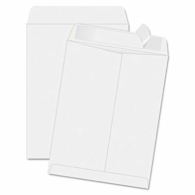 Quality Park Redi-Strip Catalog Envelope, 11 1/2 x 14 1/2, White, 100/Box