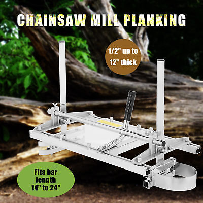 """Portable Chainsaw Mill Planking Milling Bar 14"""" to 24"""" Lumber Cutting Sawmill"""