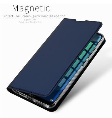 DD Skin Faux Leather Magnet Flip Case Kickstand Cover For Huawei Honor 8X Max