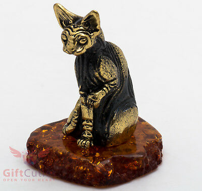 Solid Brass Amber Figurine of Dachshund Dogs playing chess IronWork