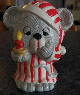 Vintage ENESCO Christmas Mouse Bank Ceramic Holiday