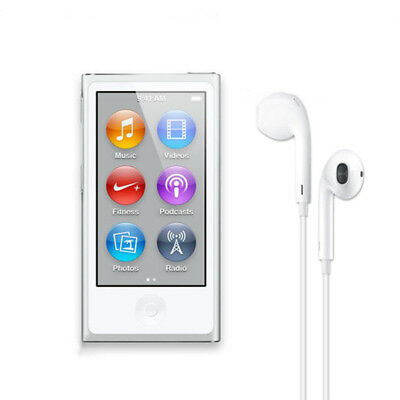 NEW Apple iPod nano 7th Generation Silver (16 GB)  90 days Warranty With boxes