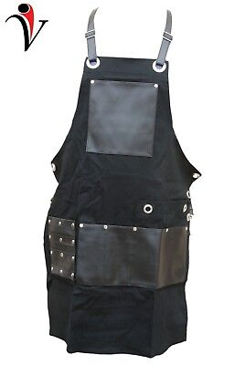 Professional Barber Hairstylist Leather/Jeans Hairdressing Barber Apron