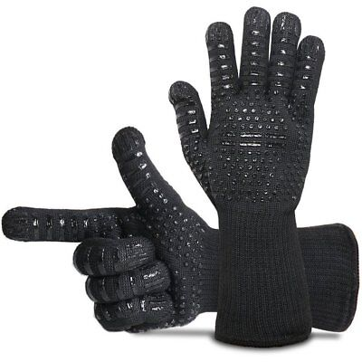 Hot 932℉ Extreme Heat Resistant Gloves Silicone BBQ Grilling Cooking Oven Gloves
