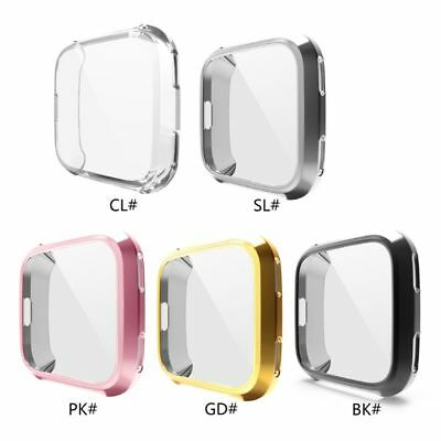 Soft TPU Case for Fitbit Versa Watch Cover Frame Protective Shell Silicone