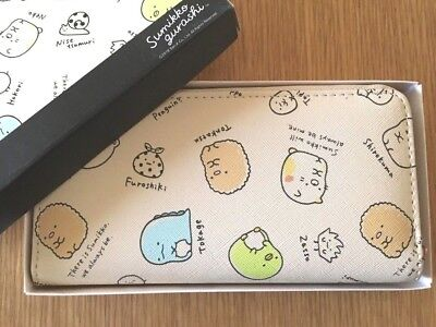 sumikko gurashi Long Travel Wallet Purse Beige Crane Game prize KAWAI New SAN-X
