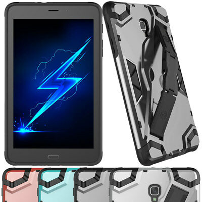 For Samsung Galaxy Tab A 8.0 SM-T350 Screen Protector Case Cover With Kickstand