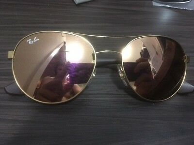 731dd0e5a8 RAY BAN RB3536 Gold Frame with Pink Mirror 55  18 Lense -  35.00 ...