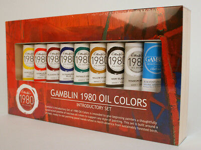 Gamblin 1980 Oil Colors Introductory Set 37 ml Tubes - Assorted Colors