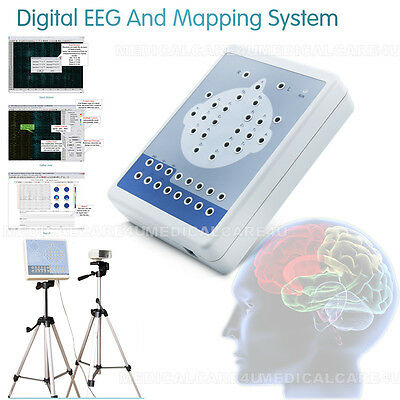 16 Channel EEG Machine Digital Brain Electric Activity Mapping System+Software